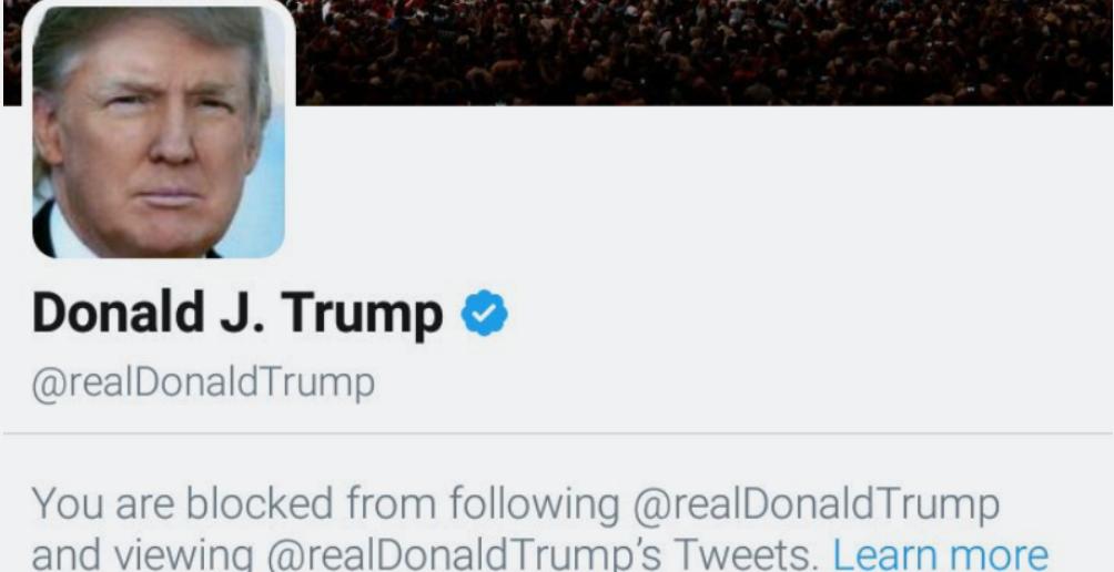 President Trump First Amendment Twitter